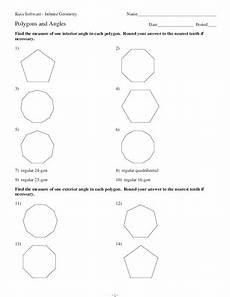 polygons and angles worksheet for 6th 10th grade lesson planet