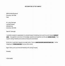 simple resignation letter template 15 free word excel pdf format download free premium