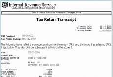 tax return an irs tax return transcript