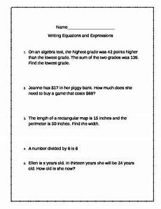 writing equations and expressions practice problems by girch