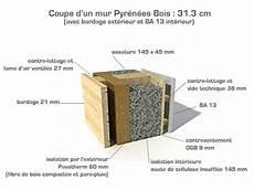 Coupe Du Mur Ossature Bois Pyr 233 N 233 Es Bois Rt 2012
