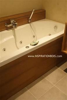tablier de baignoire bois habillage de baignoires et spas sur mesure en bois