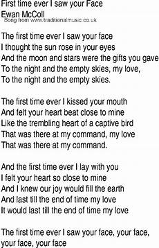 irish music song and ballad lyrics for first time ever i saw your face