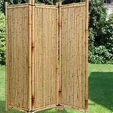 Paravent Für Garten Paravent Aus Holz Weide Und Bambus F 252 R Haus Und Garten