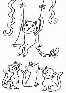 Malvorlagen Katze Quiz Kostenlose Malvorlage Katzen Katze Als Zirkusartist Zum