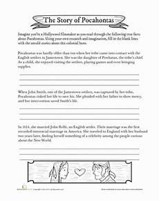 pocahontas biography worksheet education com