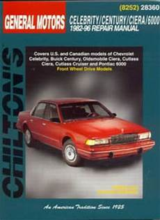 car manuals free online 1996 buick century electronic toll collection chilton gm celebrity century ciera 6000 1982 1996 repair manual