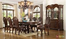 chateau traditional 9 piece formal dining room table chairs china cabinet ebay