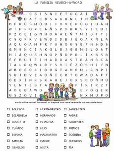 worksheets la familia 18350 la familia free worksheet packet on family words in includes puzzles and