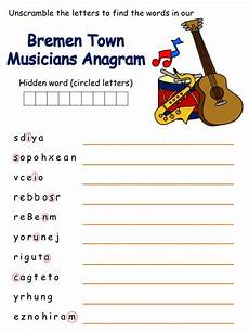 tale riddles worksheet 15039 bremen town musicians anagram puzzle education bremen sound of