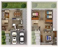 garage 2 niveles plano de casa de 2 pisos con jard 237 n frontal y garaje para