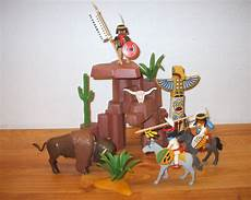 Playmobil Ausmalbilder Indianer Playmobil Indianer Mit Totem Und Felsen Ebay