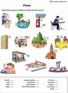 places exercises worksheets 15986 places matching worksheets vocabulary worksheets and