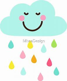 Quot Happy Cloud With Colorful Raindrops Sticker