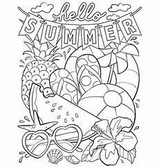 summer coloring pages generations