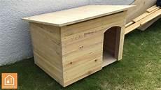 fabriquer une niche pour chien en bois tuto diy