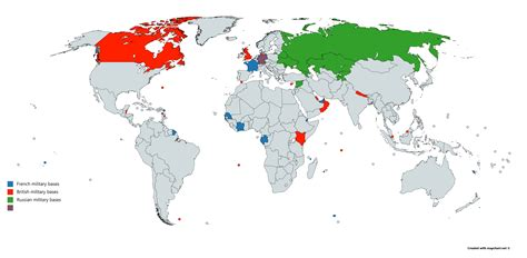 French Military Bases Around The World