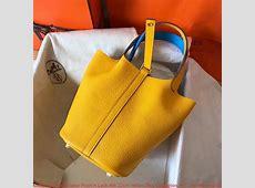 China Hermes Bicolor Picotin Lock MM 22cm Yellow Bag