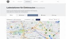 karte mit ladestationen f 252 r elektroautos e stations de