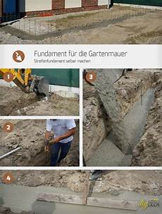 Fundament F 252 R Die Gartenmauer Streifenfundament Selber