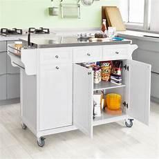sobuy fkw33 w kitchen island trolley white kitchen trolley onbuy