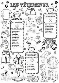worksheets les vetements 18940 vocabulary worksheets and on