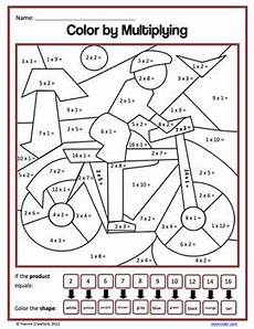 multiplication coloring worksheets 15463 color by number third grade color by multiplication and division