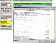 programm ahsteuern berechnung einkommenssteuer