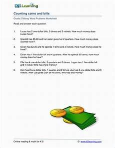 money problems worksheets for grade 2 2639 grade 2 money word problem worksheets k5 learning