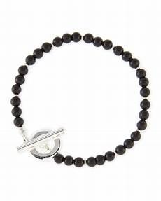N2clf gucci s sterling silver boule bracelet black