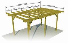 plan de pergola en bois gratuit plan de pergola en bois