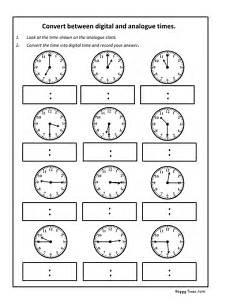 analogue and digital worksheets convert analogue to digital time worksheet ks2 maths by