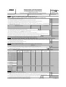 irs form 4562 download fillable pdf or fill online depreciation and amortization including