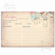 items similar to instant printable recipe card