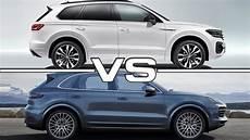 2018 vs 2019 porsche cayenne 2019 volkswagen touareg vs 2019 porsche cayenne