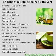 bienfaits du th 233 vert infos sur les aliments sp 233 cifique