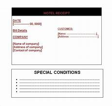 hotel receipt template hotel receipt template 9 free for pdf word