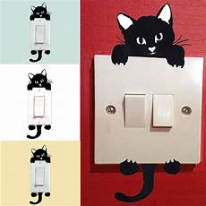 fashion 3pcs diy cat light switch sticker wall sticker decal home decoration ebay