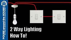 how to wire a 2 way light switch 2 way lighting explained light switch tutorial youtube