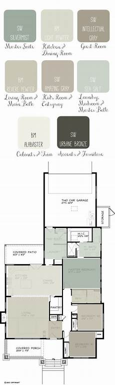 whole house paint scheme shows overall color flow from room to room link site page to create