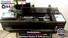 sistema tinta continua cartuchos hp 711 plotter hp designjet t120 y hp designjet t520 youtube