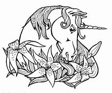 unicorns free colouring pages