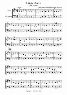 download 8 easy duets for violin and cello sheet music by beethoven holst offenbach vivaldi