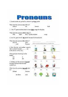 pronouns practice esl worksheet by thomasblackford