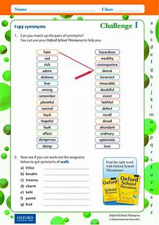 i spy synonyms thesaurus worksheet pdf teaching resources