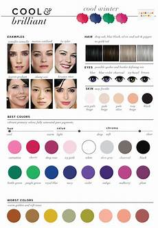 Winter Inspiration Colors Season best worst colors for winter seasonal color analysis