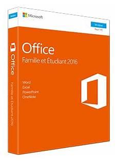 Microsoft Office Famille Et Etudiant 2016 1 Pc Box