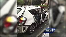 In Car - propane tank explodes as lights cigarette in car on
