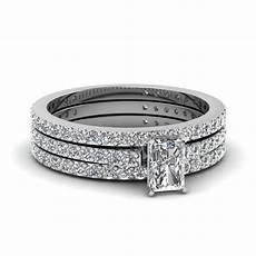 princess cut bridal diamond wedding ring sets in 950