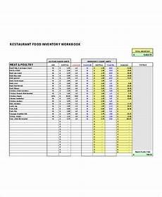 restaurant inventory list templates 5 free word pdf